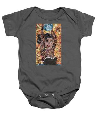 Girl With Ball After Lichtenstein Baby Onesie