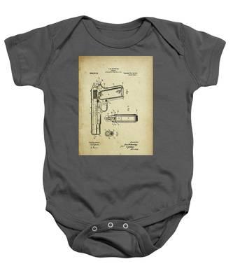M1911 Browning Pistol Patent Baby Onesie