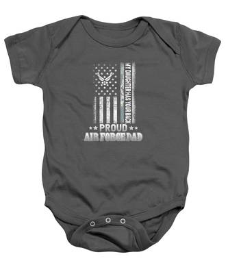 Red White Blue Air Force Flyover Infant Bodysuit US Military Family