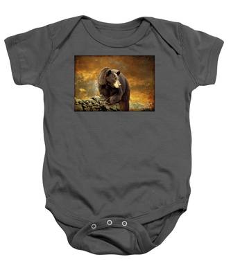 The Bear Went Over The Mountain Baby Onesie