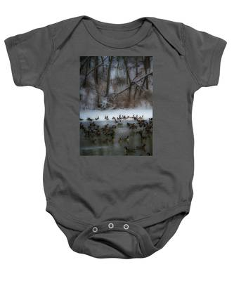 Winter Swim Baby Onesie
