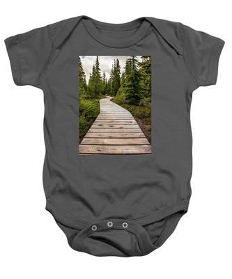 Wooden Walkway Baby Onesie