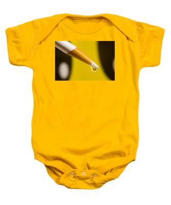Happy Water Drop Pencil Baby Onesie