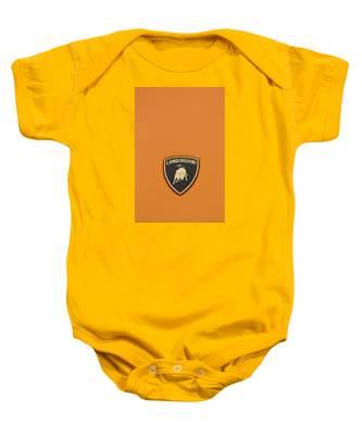 Lambo Hood Ornament Orange Baby Onesie