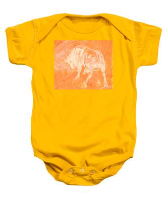 Orange Bull Negative Baby Onesie