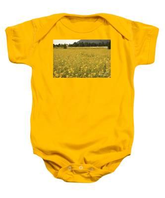 Field Of Yellow Daisy's Baby Onesie