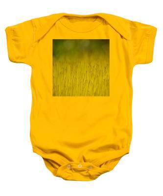 Moss In Yellow Baby Onesie