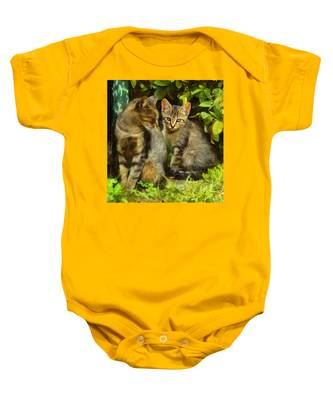 A Pair Of Feral Cats Baby Onesie