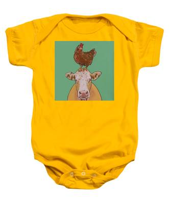 Carlyle The Cow Baby Onesie