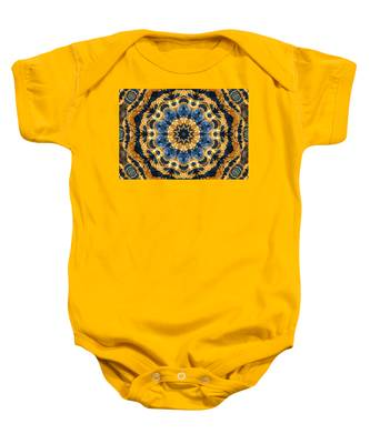 Dripping Gold Kaleidoscope Baby Onesie