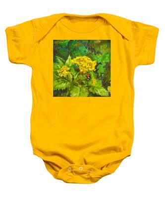 Golden Summer Blooms Baby Onesie