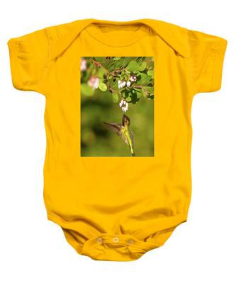 Hummingbird And Manzanita Blossom Baby Onesie