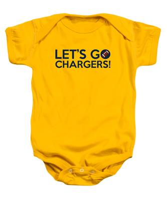 Let's Go Chargers Baby Onesie