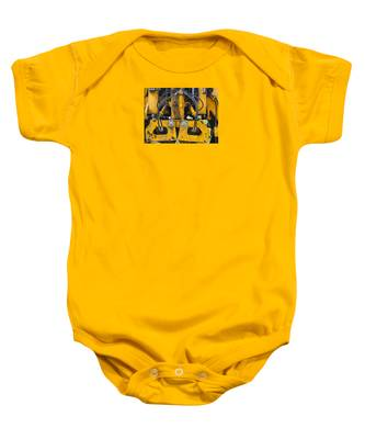 Baby Onesie featuring the photograph Railroad Equipment by Dart and Suze Humeston
