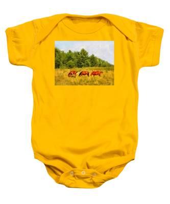 Summer Hay Burners Baby Onesie