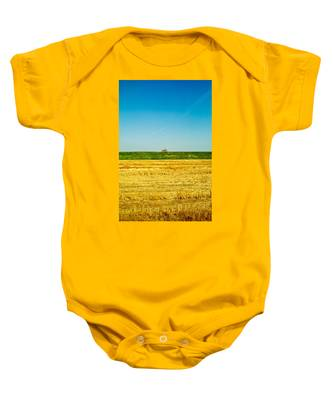 Tricolor With Tractor Baby Onesie