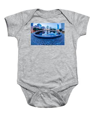 St. Louis Downtown Skyline Buildings At Night Baby Onesie