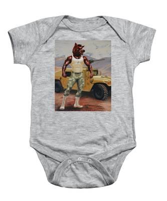 Arkansas Soldier Baby Onesie