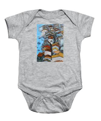 Boats In Front Of The Buildings Iv Baby Onesie