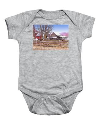 Cows At Jenne Farm Baby Onesie