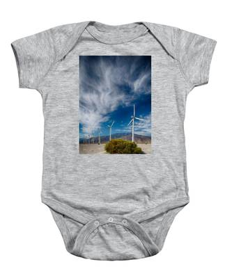 Creosote And Wind Turbines Baby Onesie