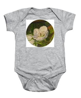 Dew Of Pear's Blooms Baby Onesie