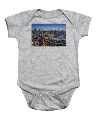 Evening City Lights Baby Onesie