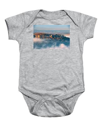 Fog Around The Fortress Koenigstein Baby Onesie
