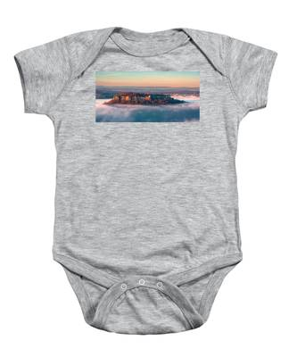 Fog Surrounding The Fortress Koenigstein Baby Onesie