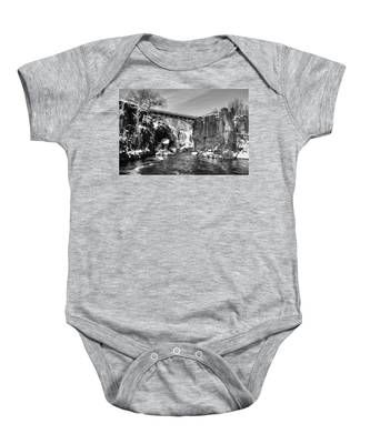 Great Falls In The Winter Baby Onesie