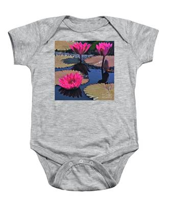 Hot Pink Tropicals Baby Onesie