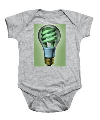 Light Bulb Baby Onesie
