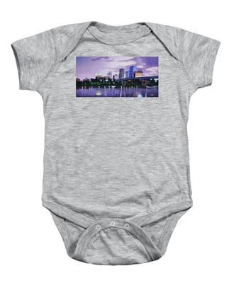 Little Rock Skyline Baby Onesie