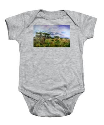 Mount Kilimanjaro Tanzania Baby Onesie