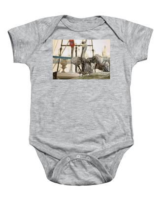 Pelican Strut Baby Onesie