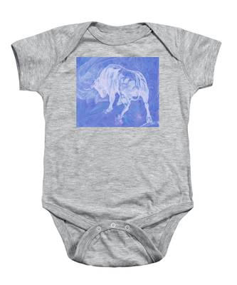 Purple Bull Negative Baby Onesie