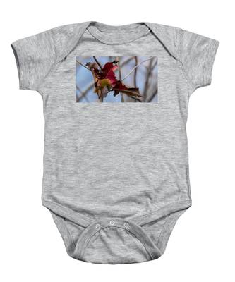 Red Over Branch Baby Onesie