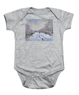 Snow Scene At Argenteuil Baby Onesie