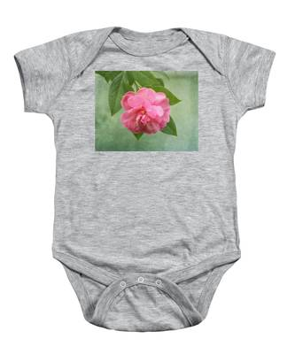 Southern Camellia Flower Baby Onesie