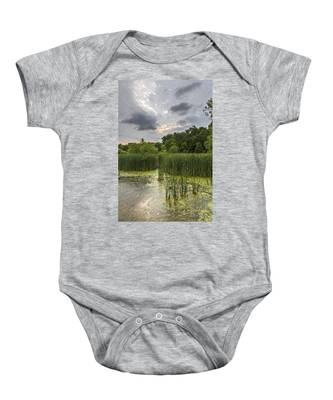 Summer Evening Clouds Baby Onesie