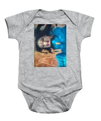Underwater Geisha Abstract 1 Baby Onesie