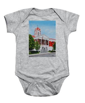 White County Courthouse - Veteran's Memorial Baby Onesie