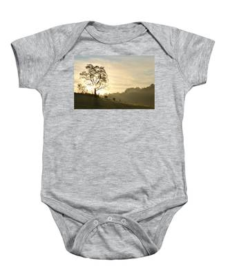 Pasture Sunrise Baby Onesie