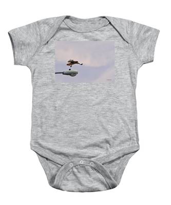 Red-tailed Hawk In Flight Baby Onesie