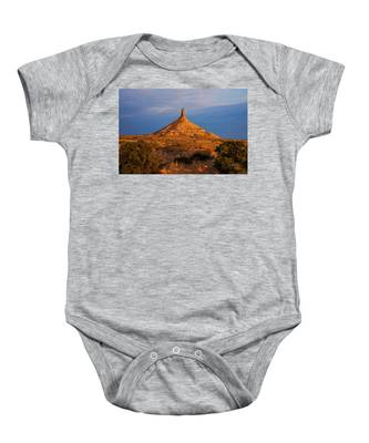 Sunrise At Chimney Rock Baby Onesie