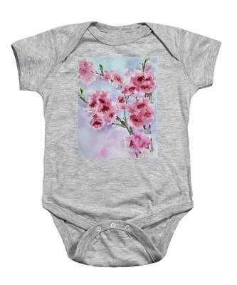 Cherry Blossoms Baby Onesie