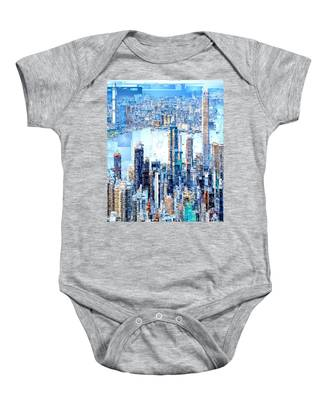 Hong Kong Skyline Baby Onesie