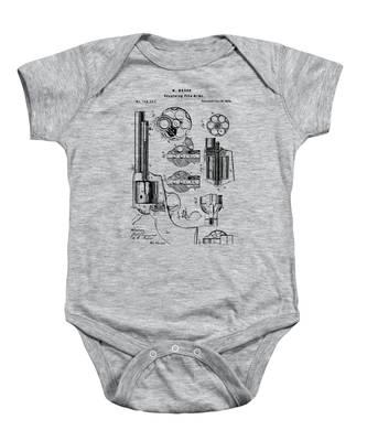1875 Colt Peacemaker Revolver Patent Vintage Baby Onesie