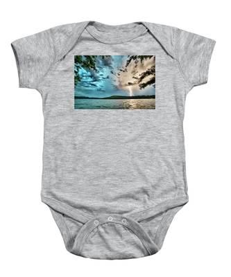 Beautiful Landscape Scenes At Lake Jocassee South Carolina Baby Onesie