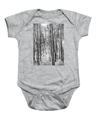 A Tree's View In Winter Baby Onesie
